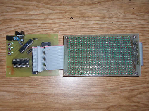 LED Animation Circuit ATmega168 led animation smdleds leds pcbled