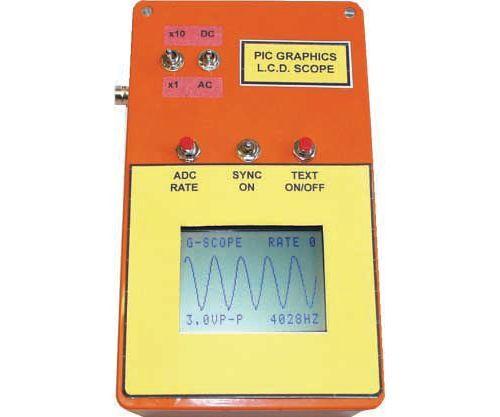 Oscilloscope Circuit with MAX492 PIC16F877 Graphic LCD oscilloscope circuit osiloskop devresi 128X64 pic16f877 glcd