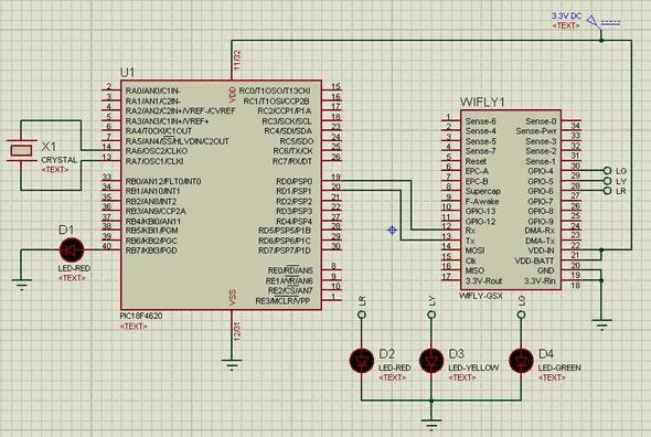pic18f4620-Wi-Fly-GSX-Modul