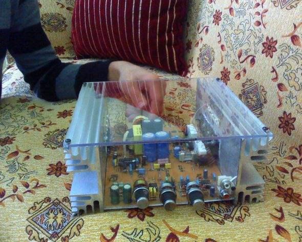 250W Car Amplifier Project SG3525 DC to DC Converter Circuit smps kutulu sogutucu sg 3525 amp bjt transistor jbl filter