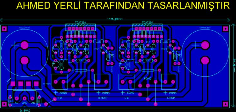 tda7294-stereo-2x100-amp-pcb