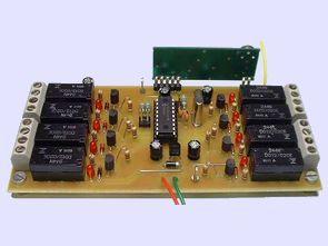 433 MHz RF mödül alcı verici röle kontrolü pic16f628
