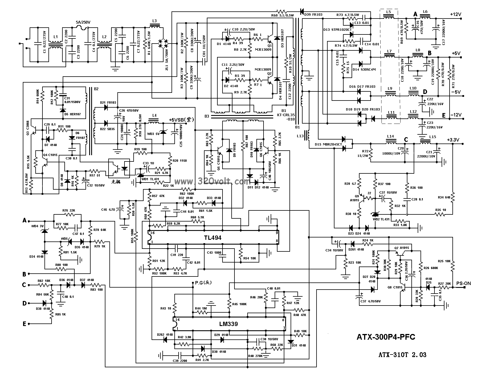 ATX Power Supply Schematic http://www.badcaps.net/forum/showthread.php?t=21586