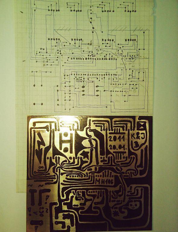 Edding PEN Draw  PCB Printed Circuit Board eding pcb izimi 3