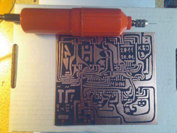 Edding PEN Draw  PCB Printed Circuit Board eding pcb izimi bitti matkap pcb delme 4