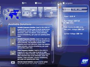Floresan CFL elektronik balast tasarım programı