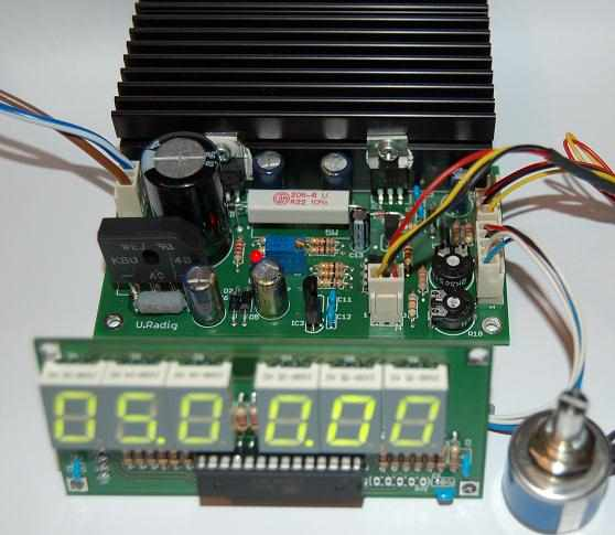 Laboratory Adjustable 0 24v Digital Power Supply Circuit ATMega8 lab power supply ayarli guc kaynagi devresi