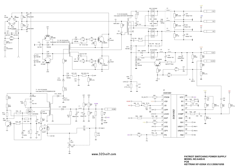 G Kayna Emalar Psu At Atx Sayfa 2 Elektronik Devreler Smps Circuit Schematic Dna1005a Patriot Switching Power Supply Sg6105d Cef2n60 Ee19 Ee16