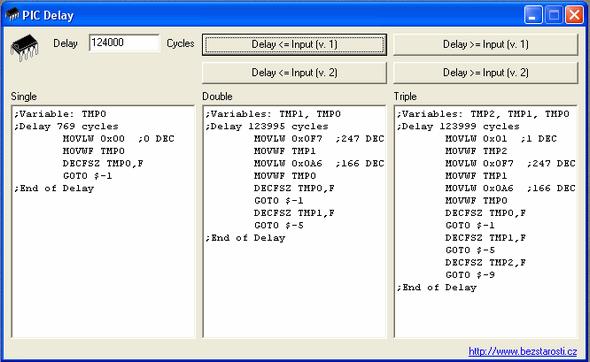 pic-delay-asm-Variables-TMP1-TMP0-cycles