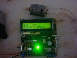 PIC16F876 HPWM Frekans ayarlı PWM Motor kontrol Devresi