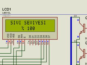 PIC16F877 & 2×16 LCD ile Sıvı seviye kontrol devresi
