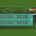 Pickit 2 icsp çıkışı için zif soket adaptör modülü