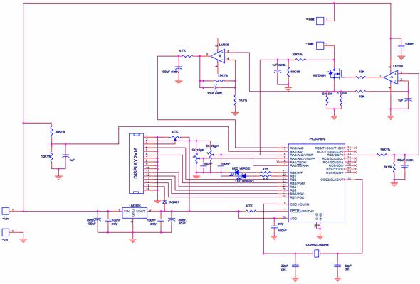 Li Ion Lipo Battery Charging Circuit pic16f876 Microcontroller picli sarj devresi pic16f876 microc charge lipo pil sarj sarj devresi