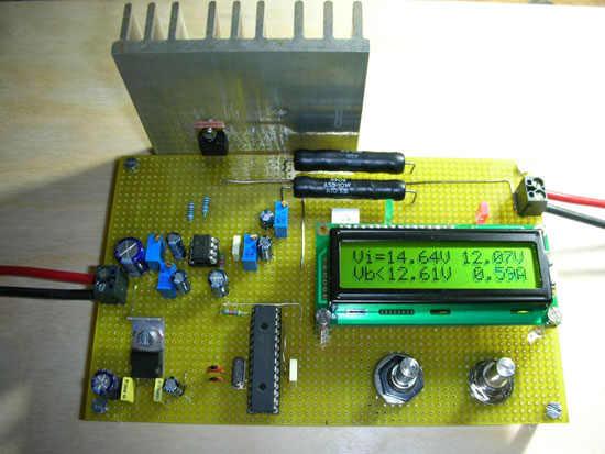 Li Ion Lipo Battery Charging Circuit pic16f876 Microcontroller sarj devresi lcd sarj charger circuit pic lipo lion