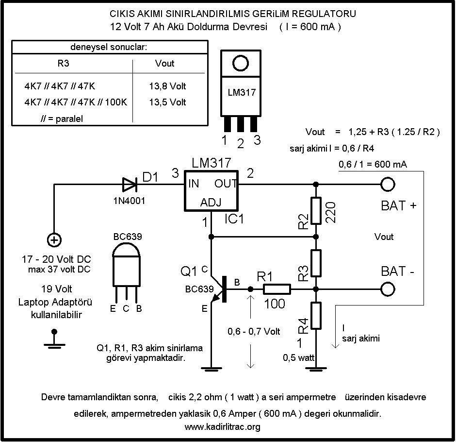 6v 10ah Battery Charger4 Lead Acid Charging Circuit Using Or 12v Charger Lm317 12 Volt 7 Amper Ak 252 Arj Devresi Elektronik Devreler