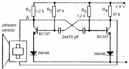 Electronic Circuit Diagrams  Part 2 astable multivibratorlu basit ultrases verici devresi