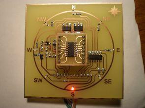 Elektronik pusula devresi kmz52 manyetik alan sensörü