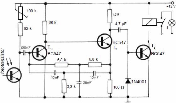 Electronic Circuit Diagrams  Part 2 fototransistorlu enfraruj alici devresi