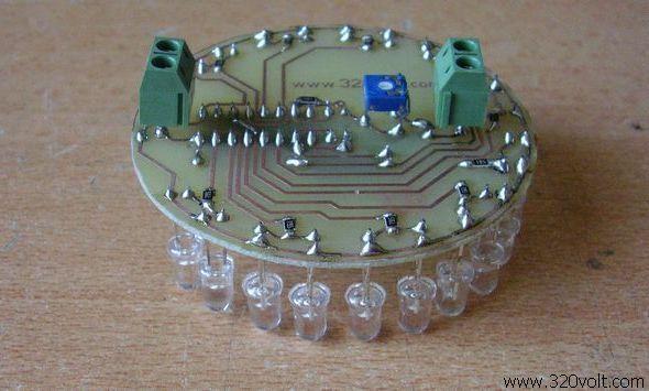 20 Led VU Meter Circuit KA2281 ka2281 10 led vumetre devresi vumeter circuit 2