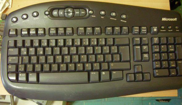 microsoft-wireless-klavye-calisiyor
