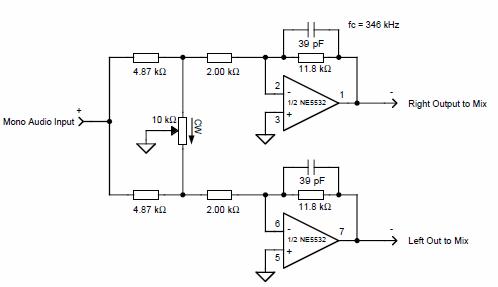Electronic Circuit Diagrams  Part 2 mono ses sinyalini stereo yapan pan balans devresi