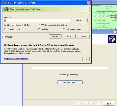PDF Converter Program pdf cevirme islemi pdf yazdirma