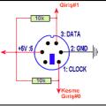 ps2-Klavyenin-100mA-clock-data-ps2-baglantisi
