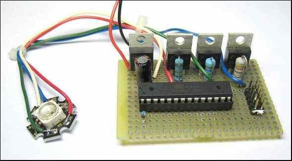 RGB Led Example Circuit  Atmega88 Atmega8 Atmega48 rgb led atmega8 atmega48 atmega88 leds