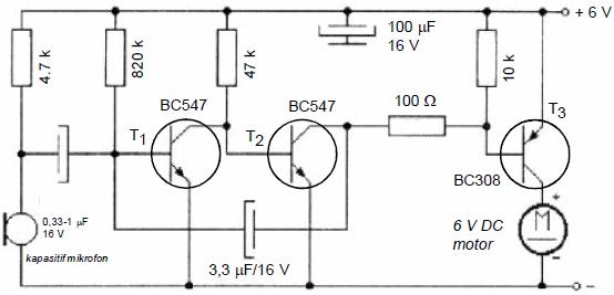 Electronic Circuit Diagrams  Part 2 ses ile bir sure calisip duran motor devresi