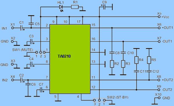 ta8210-amplifier-circuit-schematic-diagram