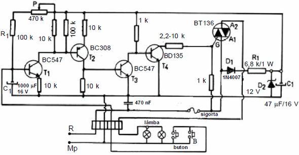 transistor-ve-triyakli-merdiven-otomatigi-devresi