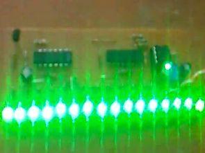 NE555 CD4015 Yürüyen ledler (16 led)