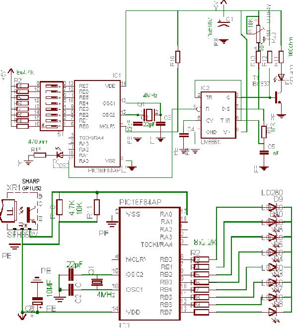 garage-door-controller-pic16f84-asm-garaj-kapi-ac-kapa-ir