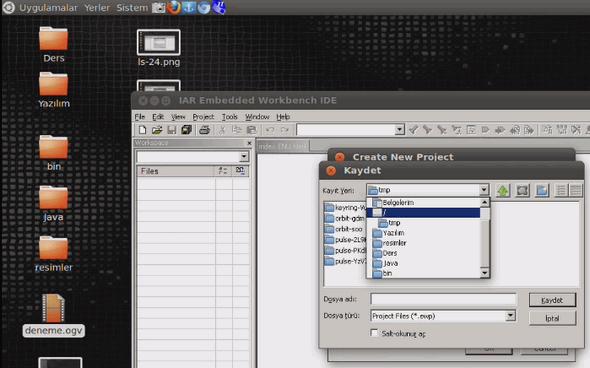 iar-linux-create-new-project-c-main-msp430