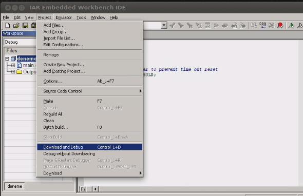 iar-linux-msp430-fet-debuger-project-download-and-debug