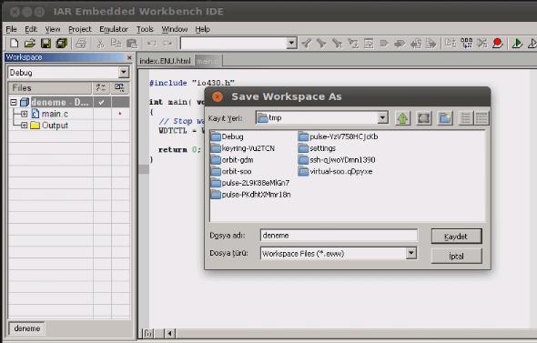 iar-linux-msp430-save-workspace-as