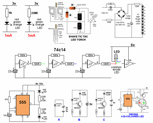 Simple Led Circuit Projects Free Wiring Diagram For You