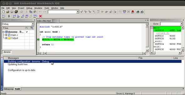 linux-iar-msp430-work