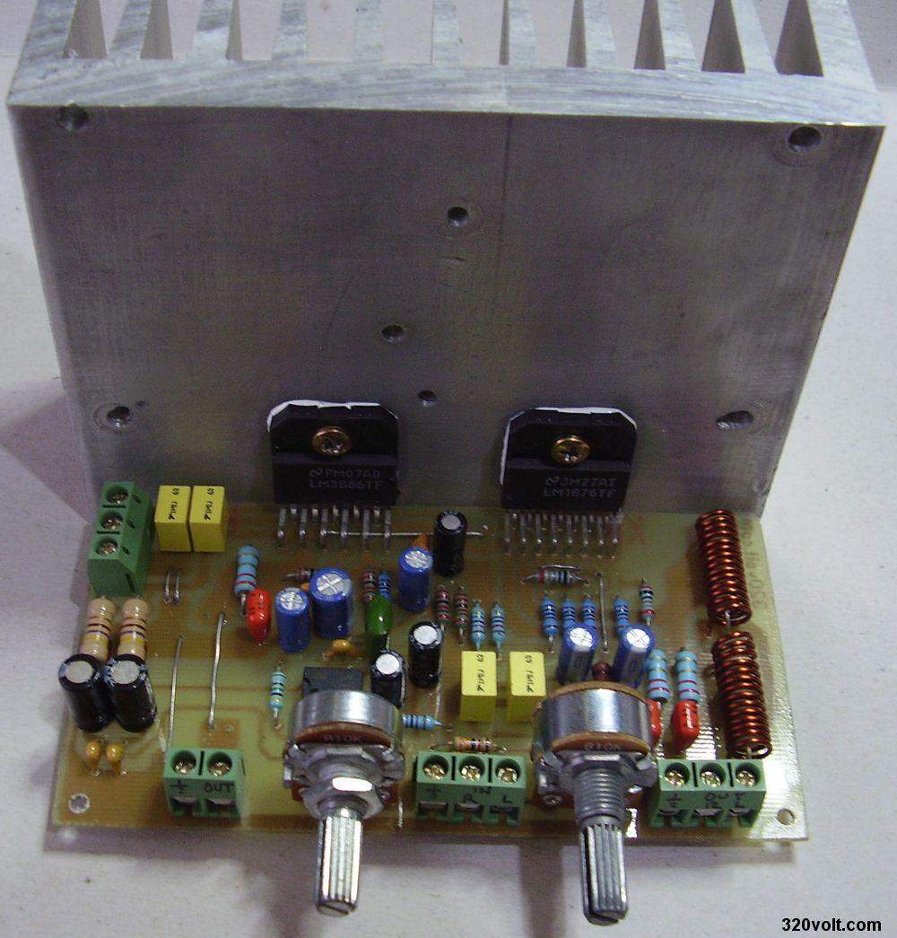 Lm3886 Lm1876 2 1 Hi Fi Amplifier Project Electronics