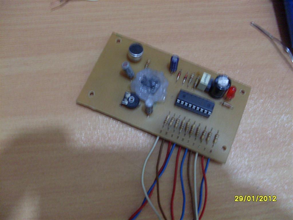 Microphone Vu Meter Circuit Lm3915