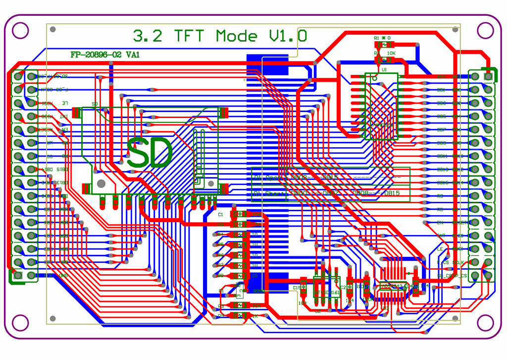 TFT LCD Modul Schematic and S95160 Keil  Electronics Projects Circuits