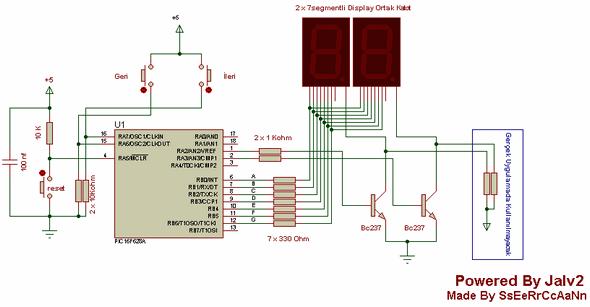 Counter Circuits Jalv2  pic16f628 16f628 ile 0 99 ileri ve geri sayici devresi