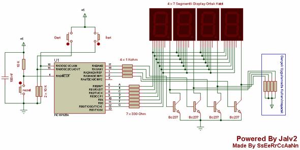 Counter Circuits Jalv2  pic16f628 16f628 ile 0 9999 ileri ve geri sayici devresi