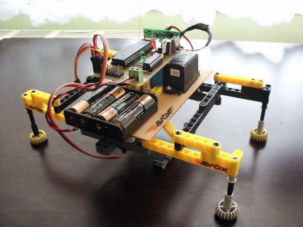 RF Robot project PIC16F877 bug robot orumcek robot rf robot