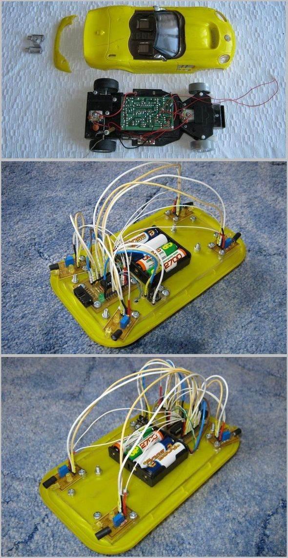 Toy Car Modification Made Simple Robot  Project ATtiny2313 robot yapimi basit robot oyuncak araba govdesi robotik