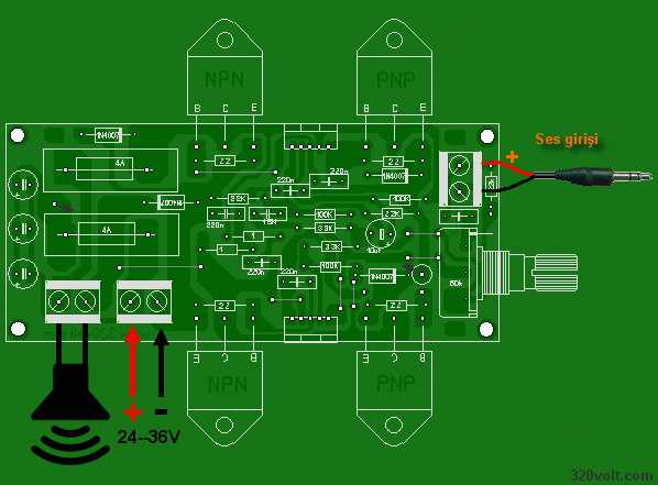200w Amplifier Circuit Tda2030 New Pcb Electronics Projects Circuits