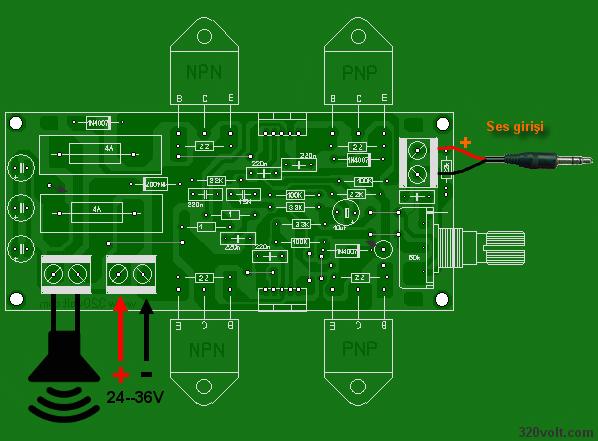namec audio pcb layot