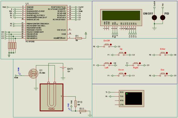 Heater Control Circuit PID Rtos CCS C PIC18F2550 pid kontrol pid heather