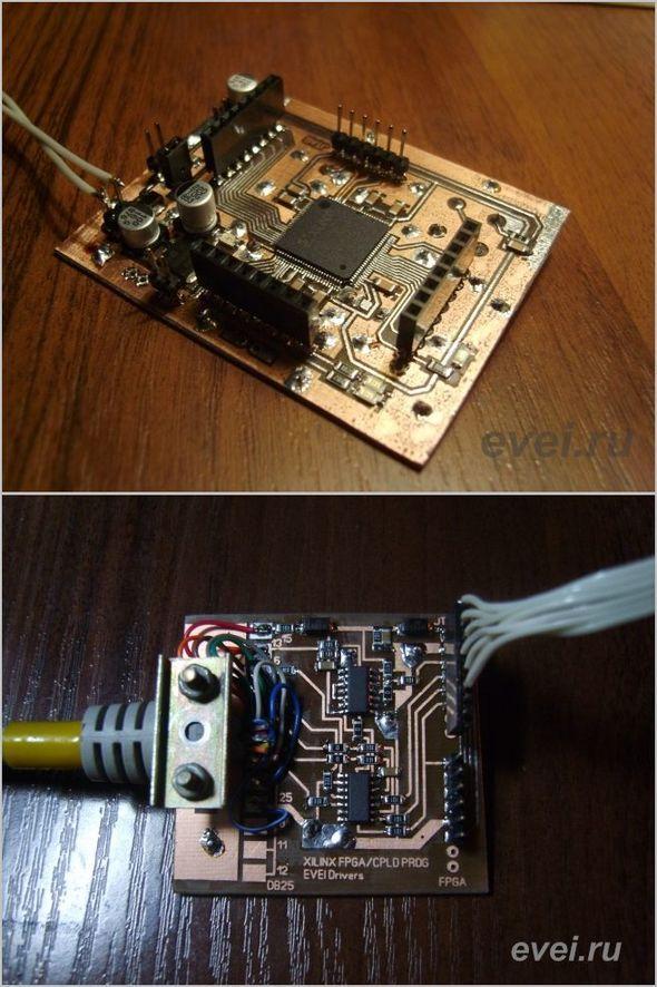 fpga-cpld-xilinx-programmer-breadboard-xc95144xl-10tq100c