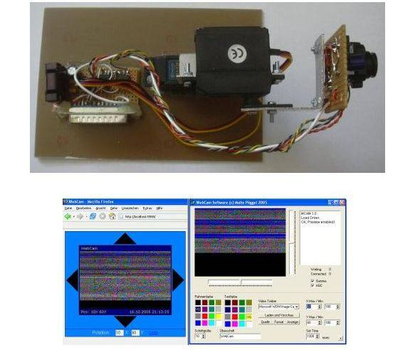 Lpt Port Camera Control via Internet Servo Motor internet camera control